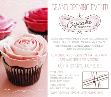Cupcake Shoppe Vaughan Grand Opening